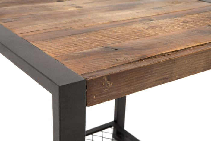 Soho Reclaimed Wood and Metal Side Table