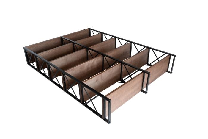 Roanoke Walnut Brown Double Etagere 6-Shelf Bookcase