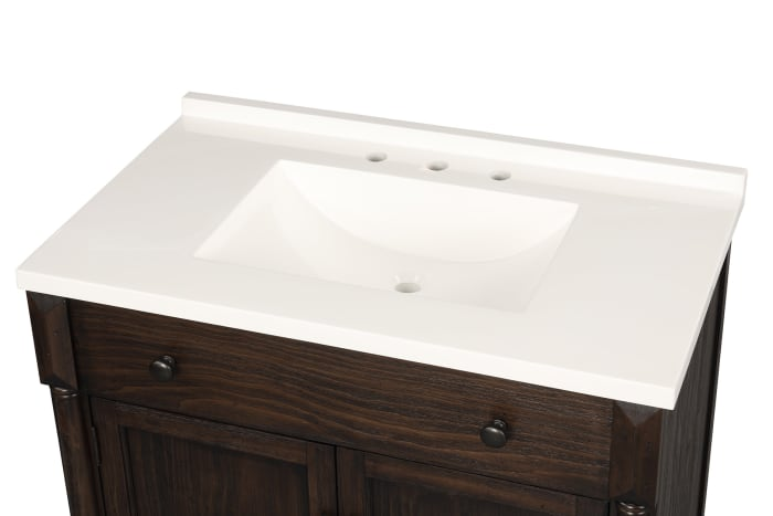 Montvale Dark Brown Single Bathroom Vanity