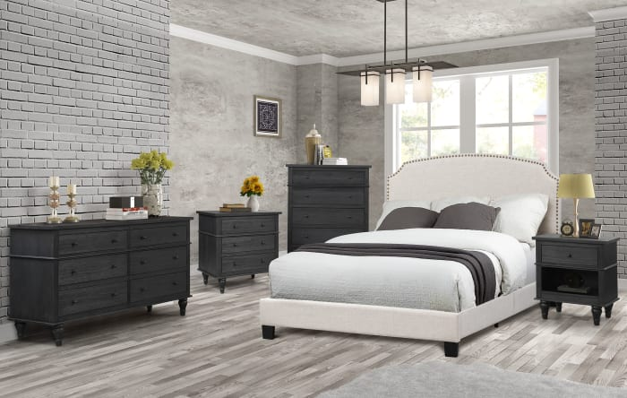 Palma Distressed Charcoal 3-Drawer Chest