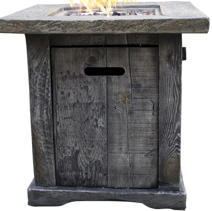 Santiago Wood Look Outdoor Gas Fire Pit