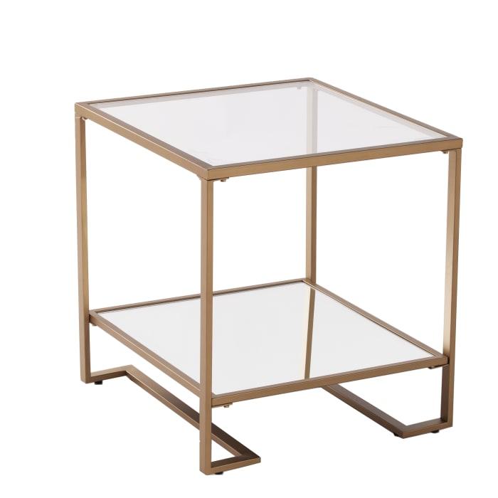 Warrington Glass-Top End Table