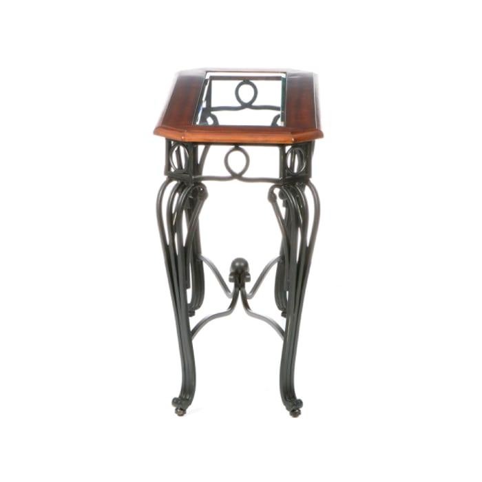 Saffron Sofa Table Dark Cherry With Black