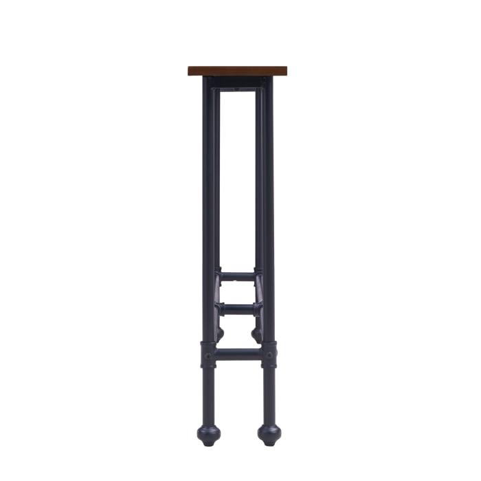 Bolton Console Table Black W/ Espresso