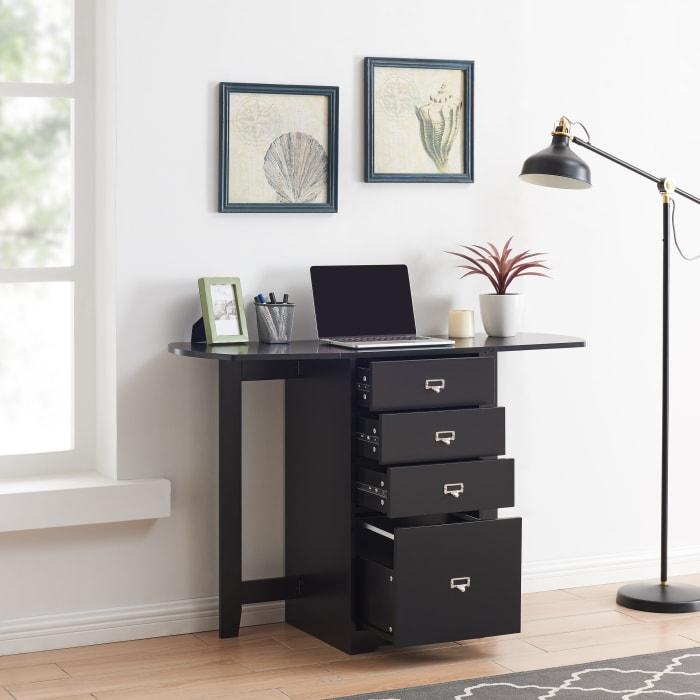 Zachary Organizer And Craft Desk Black