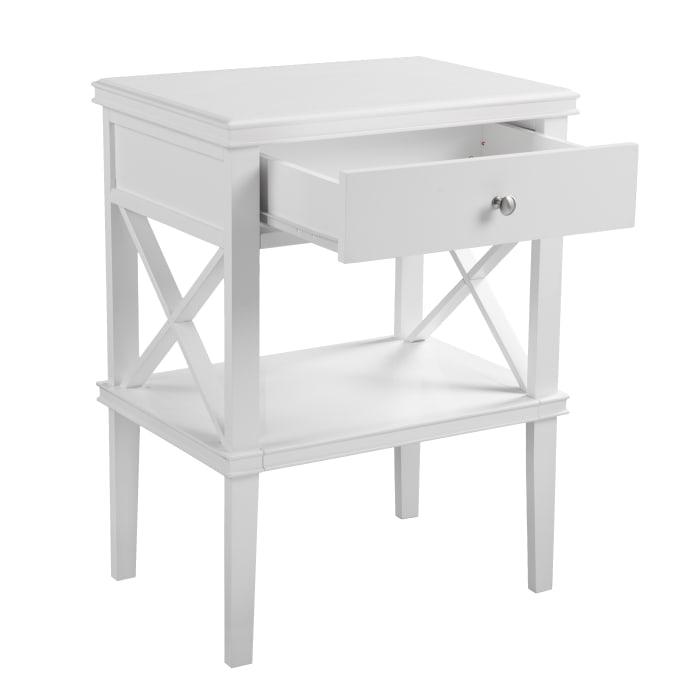 Jayden White Accent Table