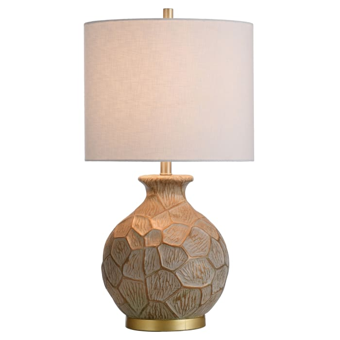 Round Transitional Moulded Table Lamp
