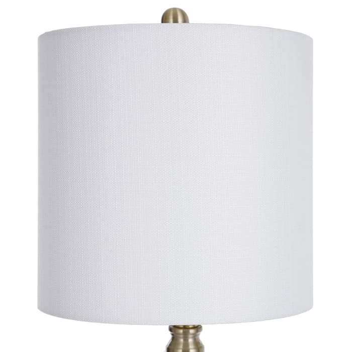 Traditional Satin Brass Table Lamp