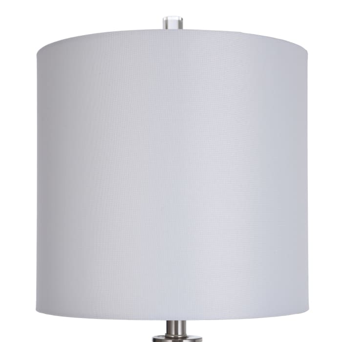Cylindrical with Diagonal Texture Table Lamp