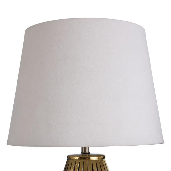 Gray Ceramic Column Table Lamp