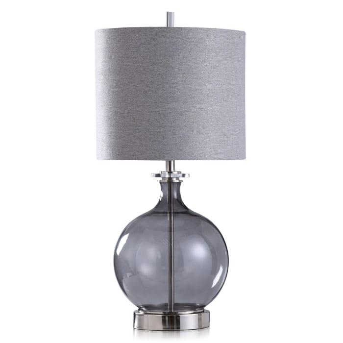 Smoked Glass Globe Table Lamp