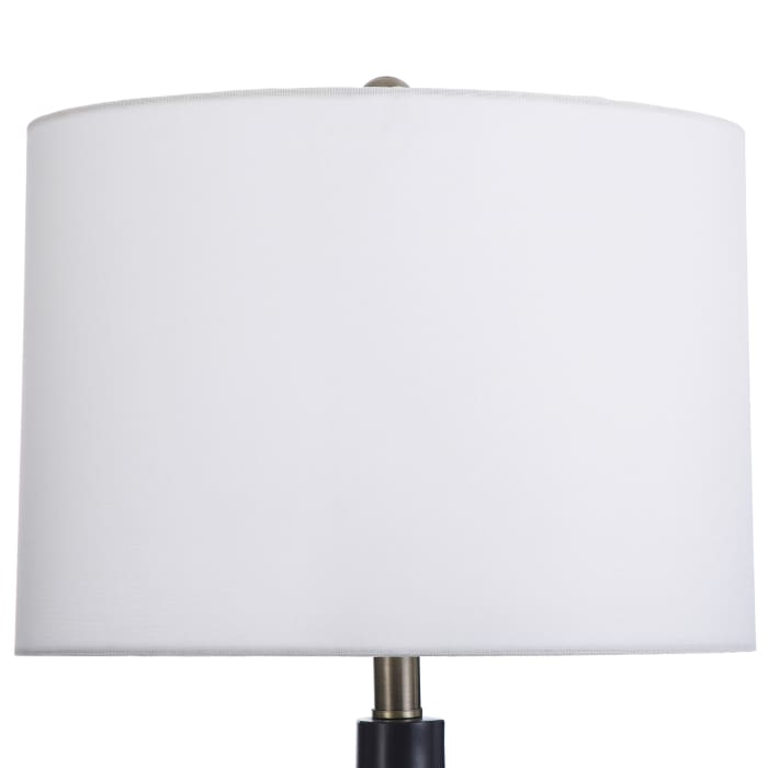 Large Round Transitional Black Table Lamp