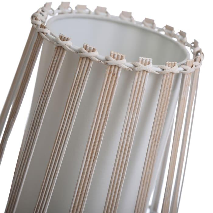 White Fabric Inside Shade Uplight