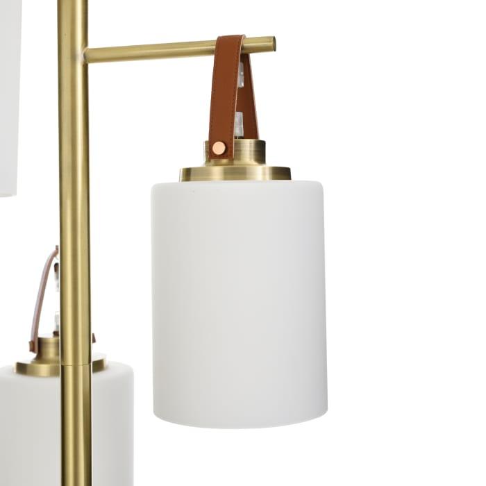 Three Sphere Shades Marble Base Floor Lamp