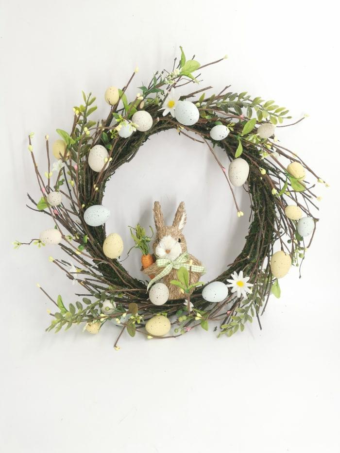 Pier 1 Twig Wreath with Bunny 17