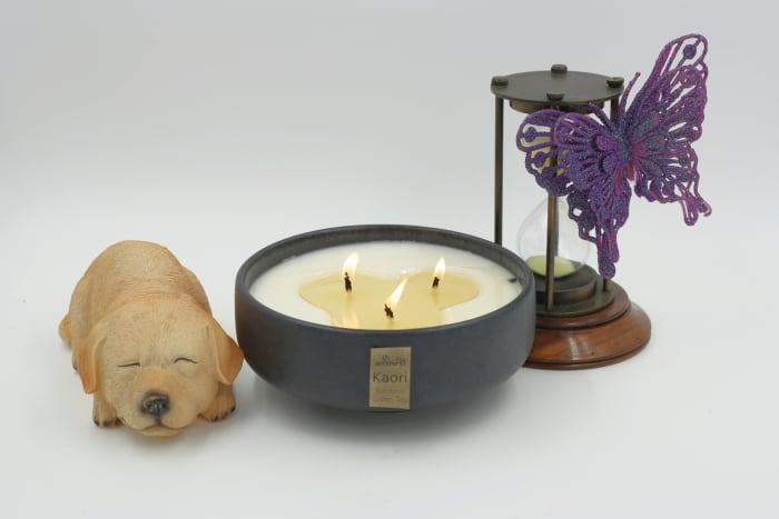 Kaori Bowl Luxury in Bamboo Green Tea Candle