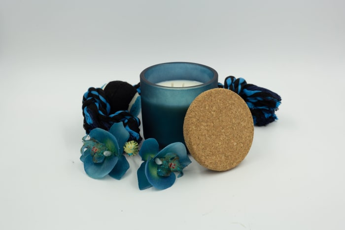 Orchid & Dark Leather Luxury Two Wick Candle