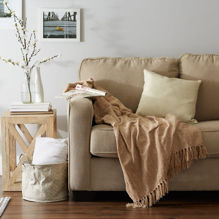 Soft Natural Chenille Throw