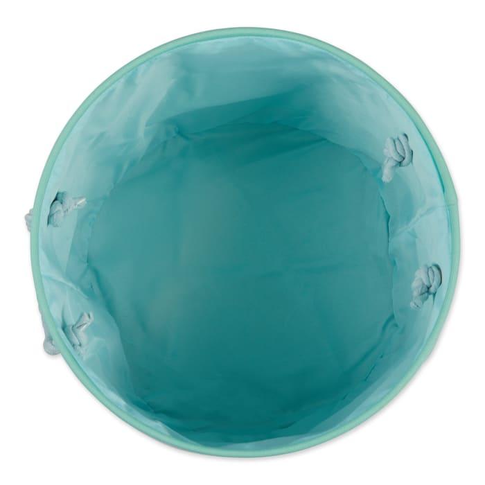 Bone Dry Aqua Round Small Pet Bin