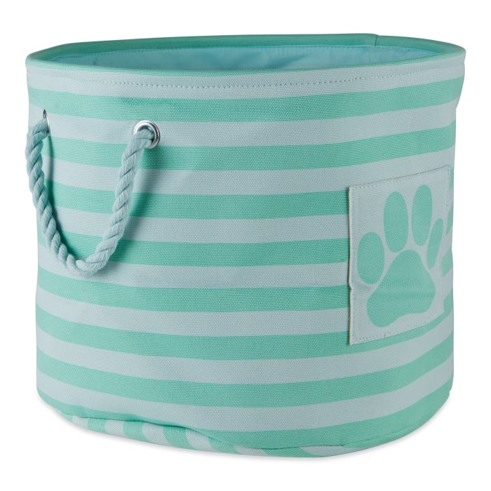 Bone Dry Aqua Round Medium Pet Bin