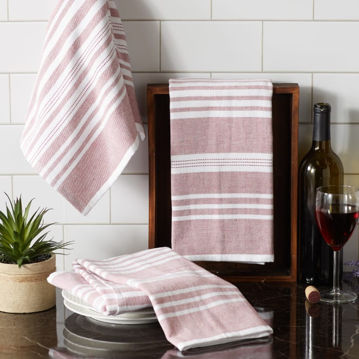 Mineral French Terry Chambray Solid 3 Piece Dishtowel