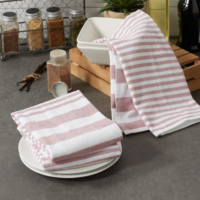 Asst Mineral French Terry 3 Piece Dishtowel
