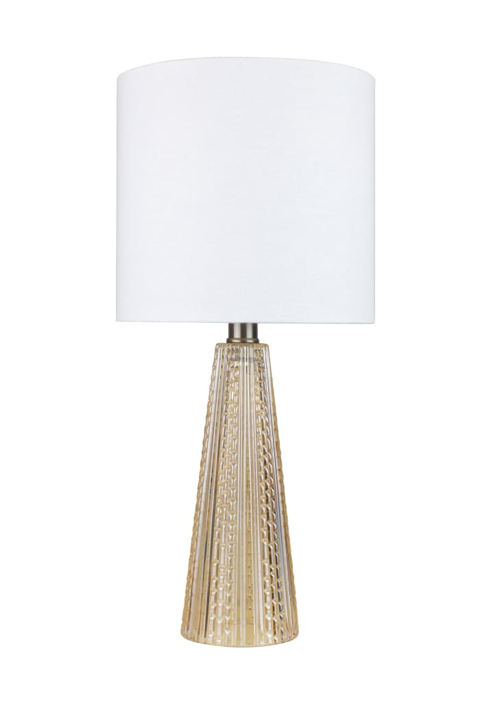 Clear Champagne Glass Accent Table Lamp