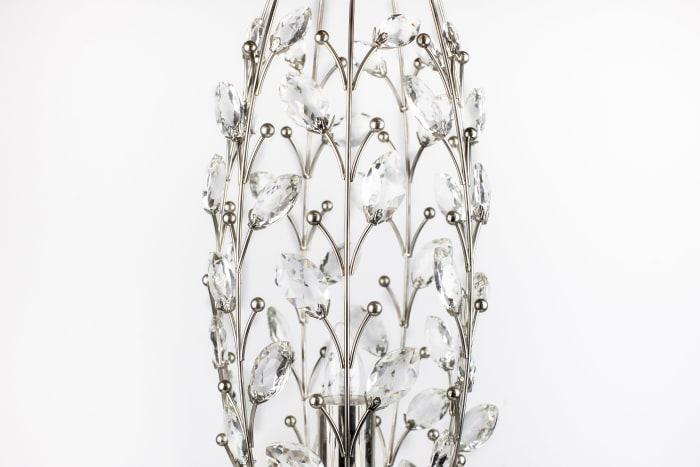 Polished Nickel Vase Table Lamp