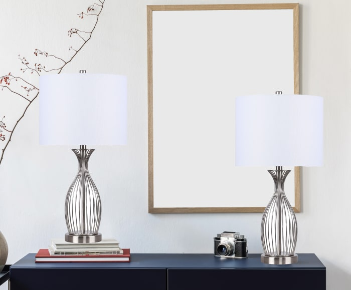 Brushed Nickel Table Lamp