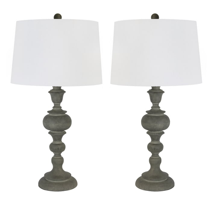 Acid Paloma Poly Resin Set of 2 Table Lamps