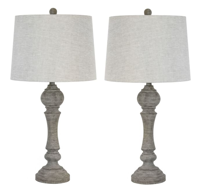 Reclaimed Grey Set of 2 Table Lamps