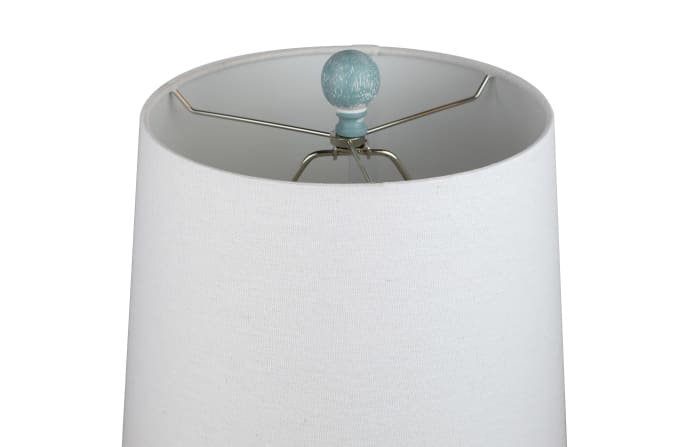 Antique Dusk Blue Set of 2 Table Lamps