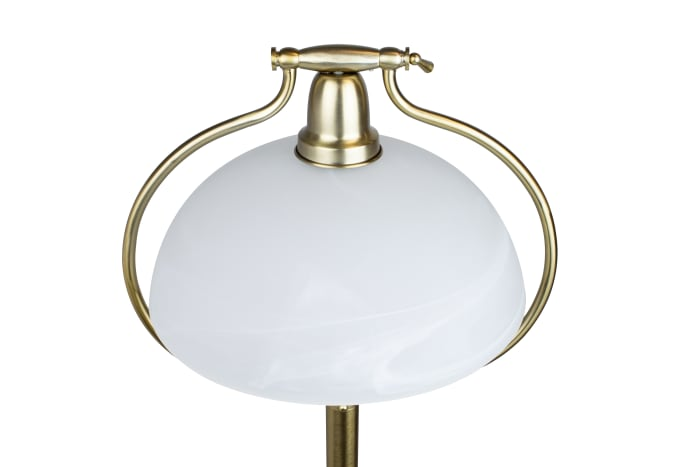 Plated Gold Metal Floor Lamp
