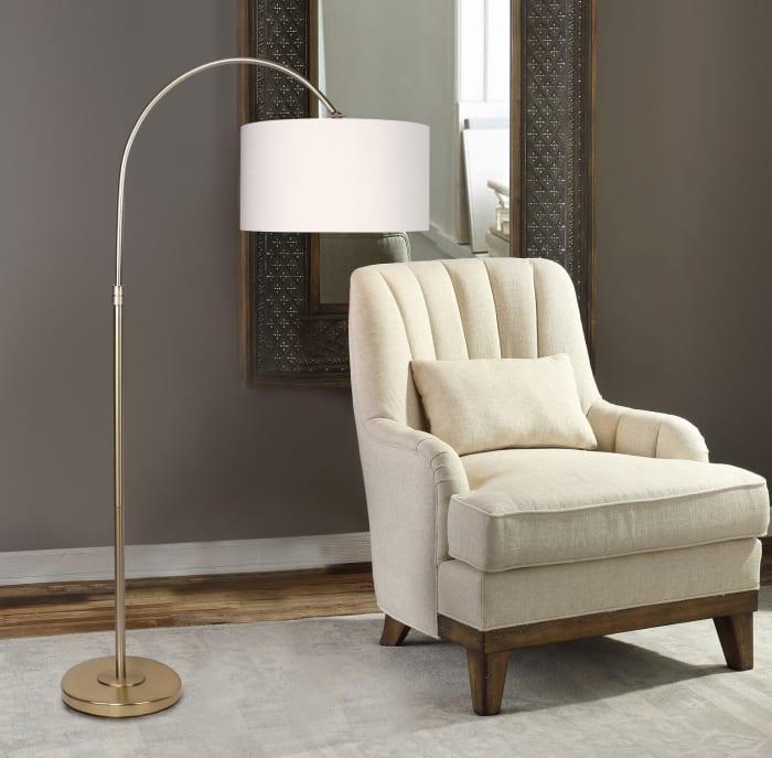 Modern Gold Plated Arc Floor Lamp