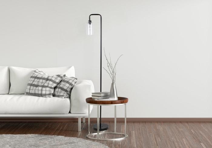 Matte Black Metal Down Light Floor Lamp