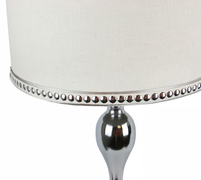 Mirrored Polished Chrome Set of 2 Table Lamps