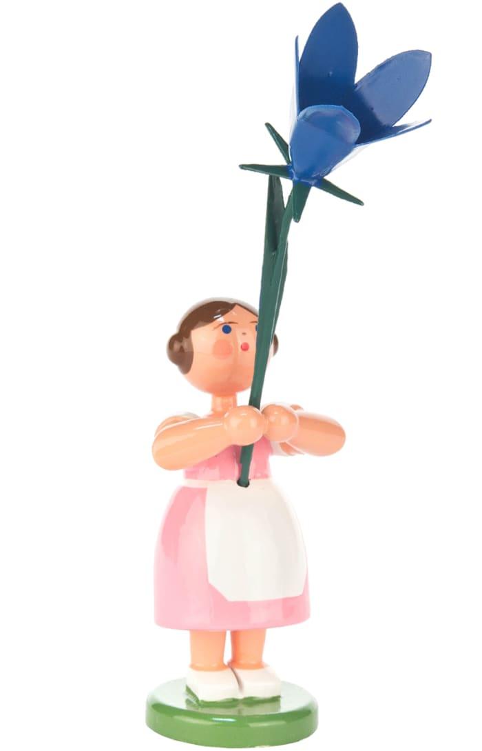 Dregeno Pink Flower Girl Easter Figurine
