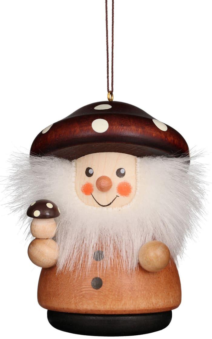 Christian Ulbricht Mushroom Man Natural Ornament -