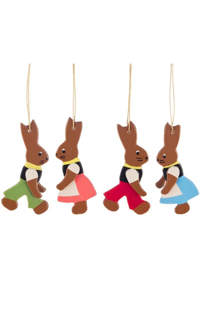 Dregeno Rabbits Set of 4 Easter Ornament