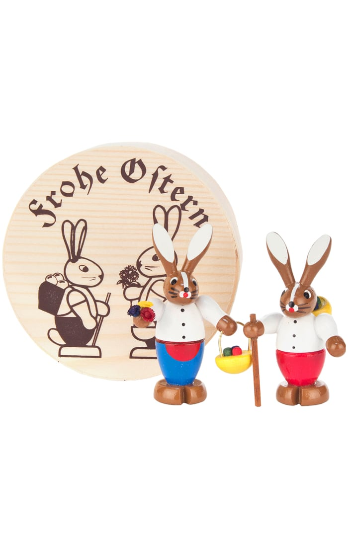 Dregeno Chip Box Rabbit Couple Easter Ornament