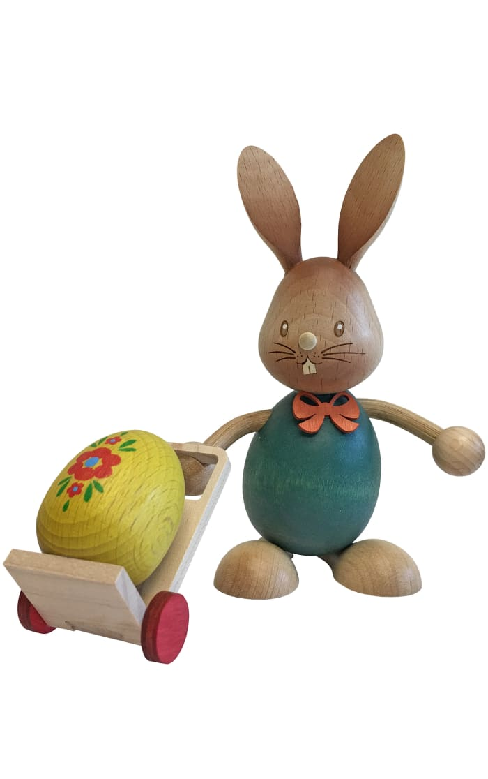 Dregeno Rabbit With Trolley Easter Figure