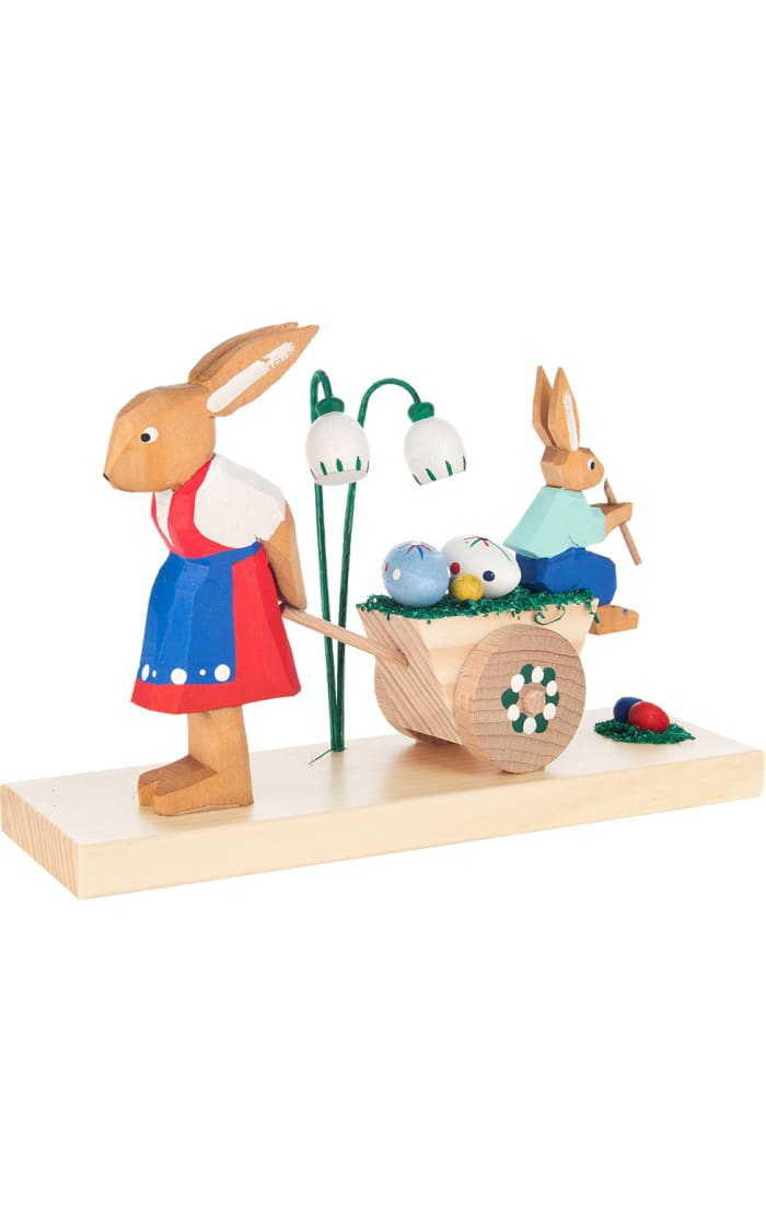 Dregeno Rabbit Mother and Son Easter Figures