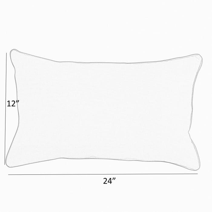 Corded Set of 2 Ivory Lumbar Pillows