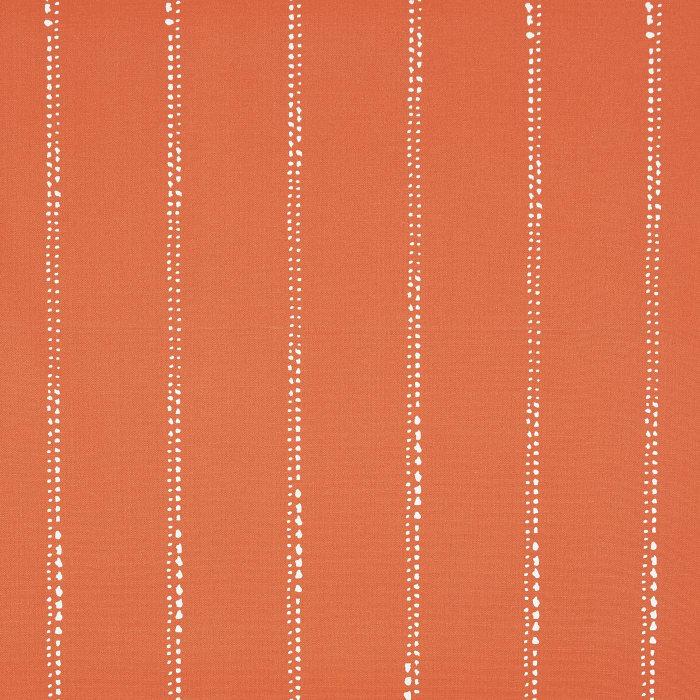 Corded Set of 2 Orange Dotted Stripes Lumbar Pillows