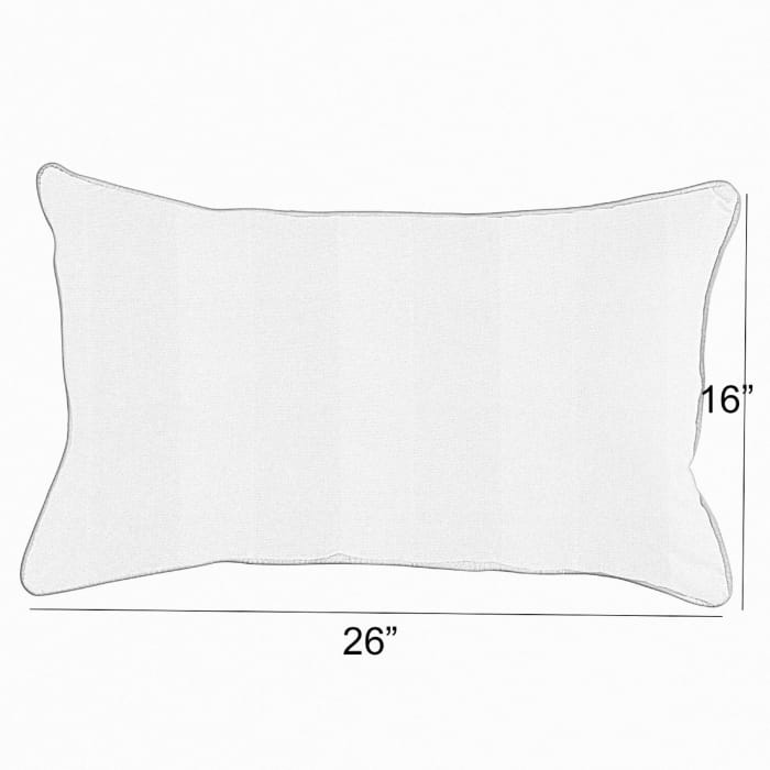 Corded Set of 2 XL Beige/White Check Lumbar Pillows