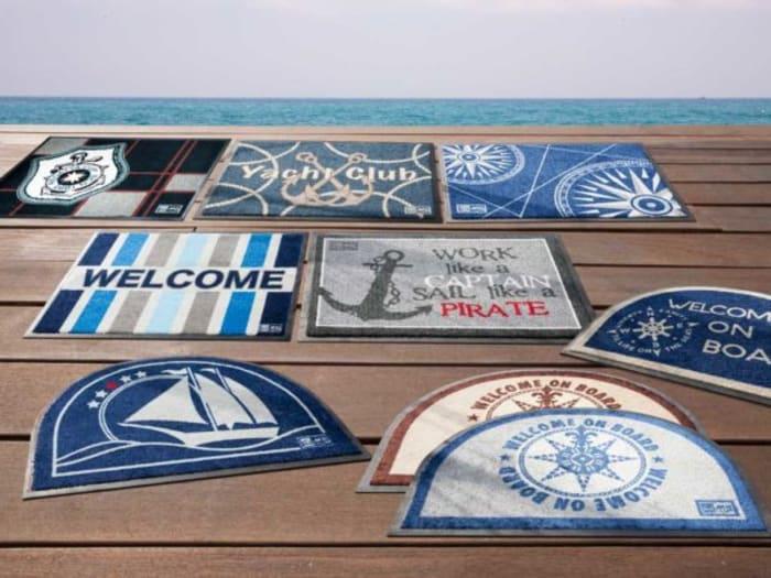 Welcome On Board Brown Non-Slip Door Mat