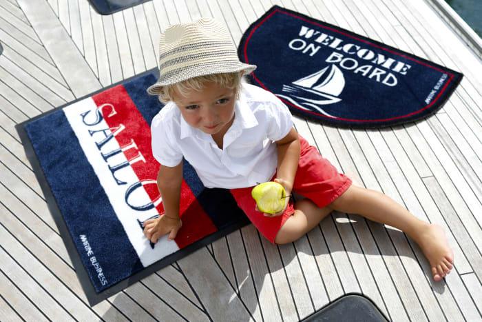 Welcome On Board Sailor Non-Slip Door Mat