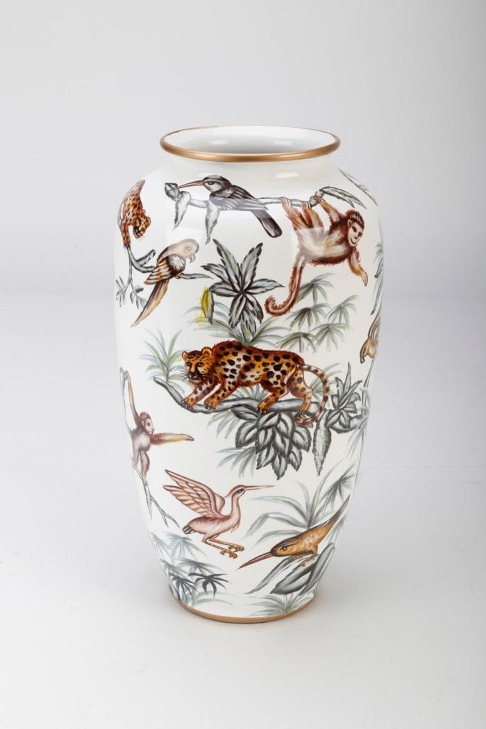 Hand Painted Jungle Vase
