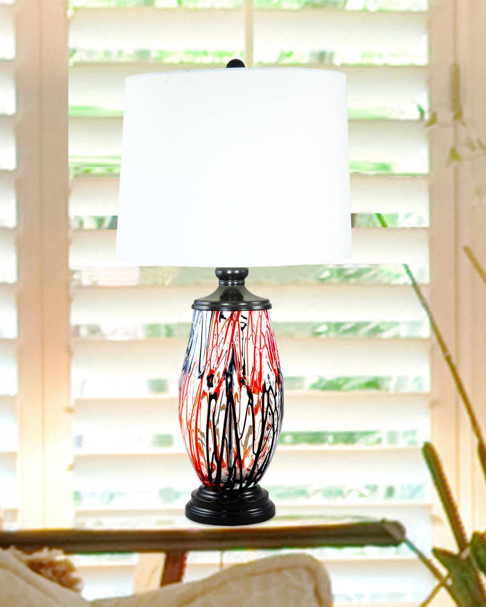 Halen Painted Crystal Table Lamp