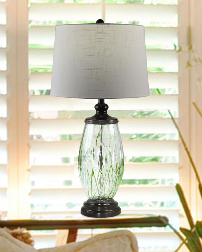 Vale Painted Crystal Table Lamp